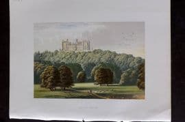 Morris Seats 1860's Antique Print. Belvoir Castle